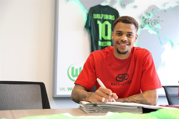 Wolfsburg announced the signing of Lucas Nmecha